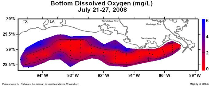 Dissolved Oxygen Map 2008