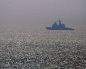 A US warship cruises through the Gulf of Oman. Photo: US Navy