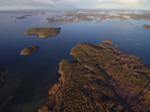 An aerial view of the Archipelago Sea, a coastal region of the Baltic. Beneath these seemingly pristine waters lies a coastal ecosystem in crisis due to low oxygen levels. Credit: Kari Mattila, Archipelago Research Institute