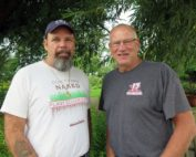 Lance Nacio, left, and Randy Skinner are Gulf Coast shrimp fishermen who traveled to Minnesota last week to talk about the impact of Mississippi River pollution their industry. Kirsti Marohn | MPR News