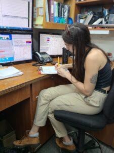 Gina Woods recording station information