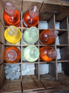 Variety of DO levels in BOD bottles